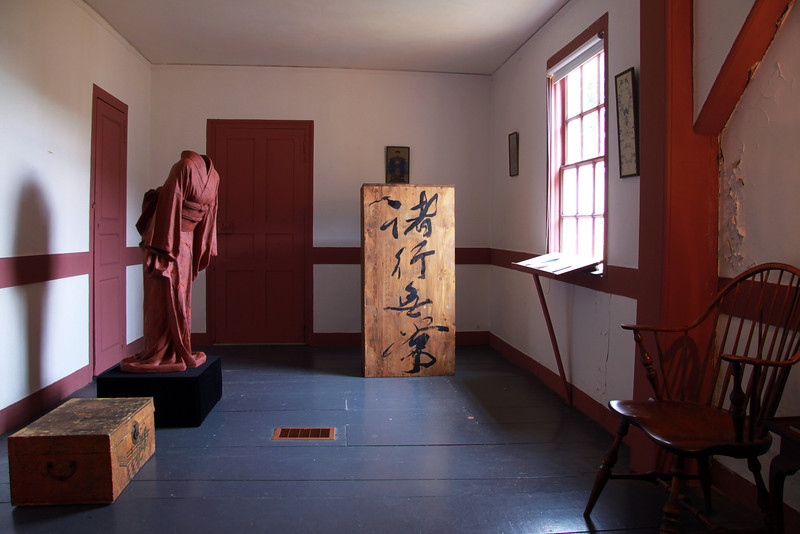 Ceramic kimono sculpture exhibited at Wentworth-Coolidge State Historic Site