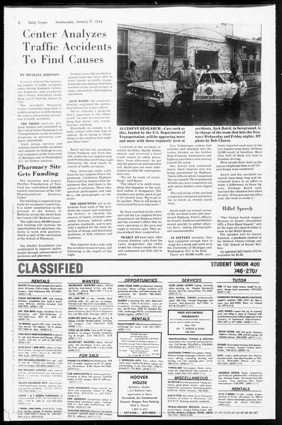 Daily Trojan, Vol. 66, No. 62, January 09, 1974