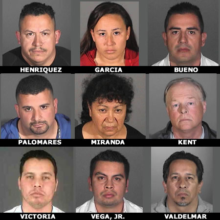 . Two area residents are accused of leading a mortgage fraud ring that stole $2.3 million from CitiMortage and MetLife Bank, authorities announced Wednesday. Gerard Bueno, 35, of La Habra Heights, and Jesus Vega Jr., 28, of Hacienda Heights, are accused of leading the fraud ring, which also included seven others.