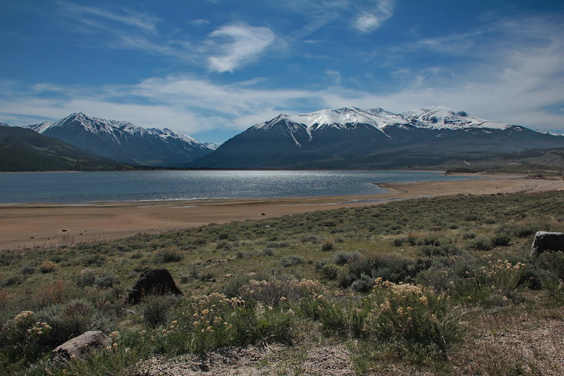 Twin Lakes, Looking West towards Independence Pass
