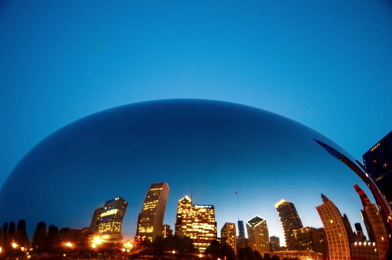 Gleaming at Blue Hour Bean - July 7, 2011