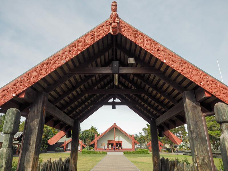 Maori marae at Te Puia