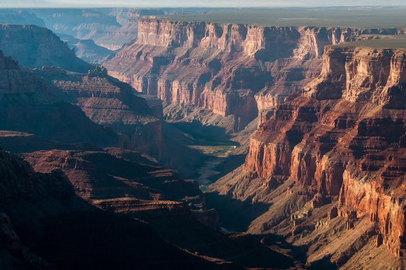 Colorado River winds through the Grand Canyon in Arizona, USA