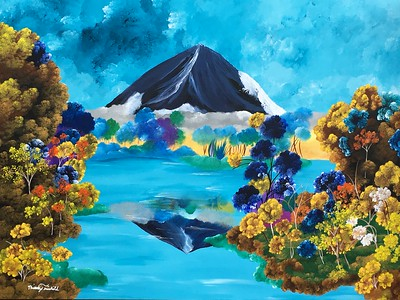 """""""The Embrace of British Columbia"""" (acrylic) by Brittany Fairchild"""