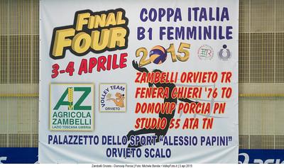 Zambelli Orvieto - Domovip Porcia | Semifinale Coppa Italia B1 F