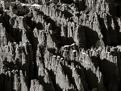 Bryce Canyon National Park - Monochrome