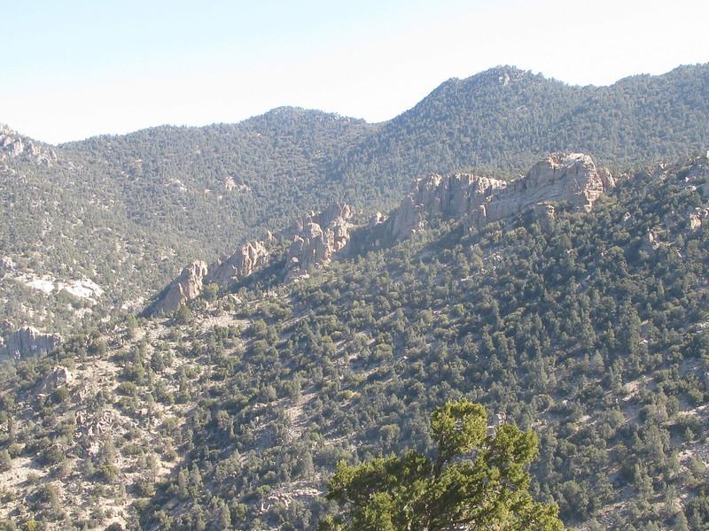 crags below Sawtooth