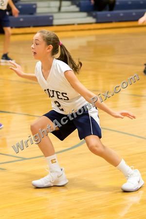 2017 10 16 SMS Girls 7th Grade Gold Basketball vs Waldon