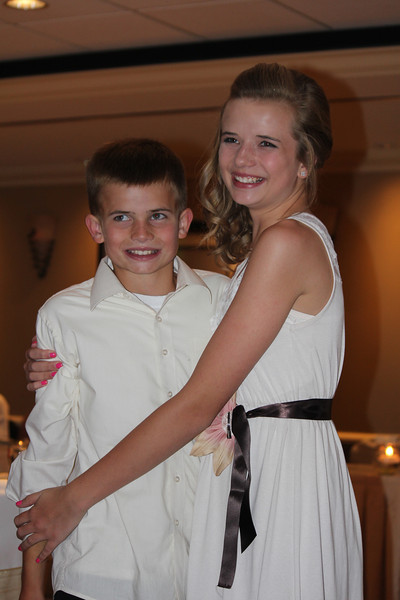 Grandchild - Finn and Quincy at Mike's wedding