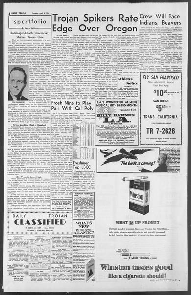 Daily Trojan, Vol. 54, No. 96, April 04, 1963
