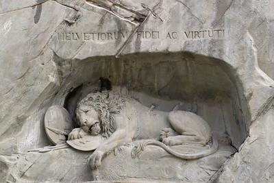 Lion Monument of Lucerne, Switzerland. © 2005 Kenneth R. Sheide
