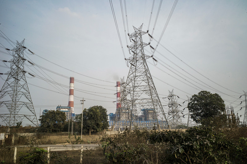 Chattisgarh, India, February 2015:   View of Jindal power plant in Raigargh district.   Photographs for a story on land allocation for coal mines in Chattisgarh.  Modi's new government in the centre has relaxed the environmental regulations so the land can be allocated to both public and private sector companies easily.   Photo by Sami Siva for Al Jazeera America.