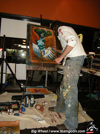 """Behind The Mask"" group art show - The Grind Gallery - Mar Vista, CA - October 17, 2008"