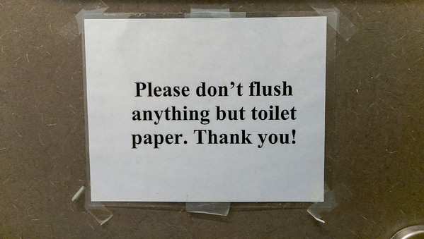 Tricky Washroom Sign