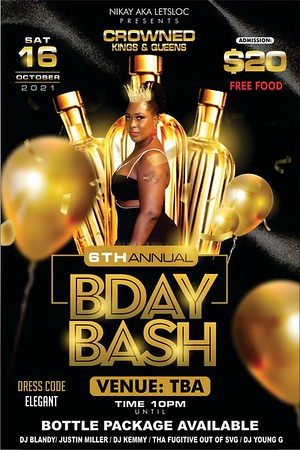 """CROWNDED KINGS & QUEENS 6TH BIRTHDAY BASH """"coming soon"""""""