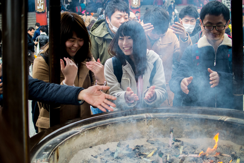 Incense urn at Senso-ji Temple