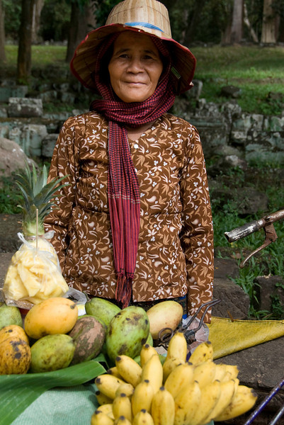 This lady sold us some delicious fresh pineapple.