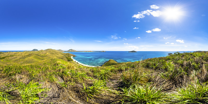 Lookout to Paradise Beach - Yasawa - Fiji Islands
