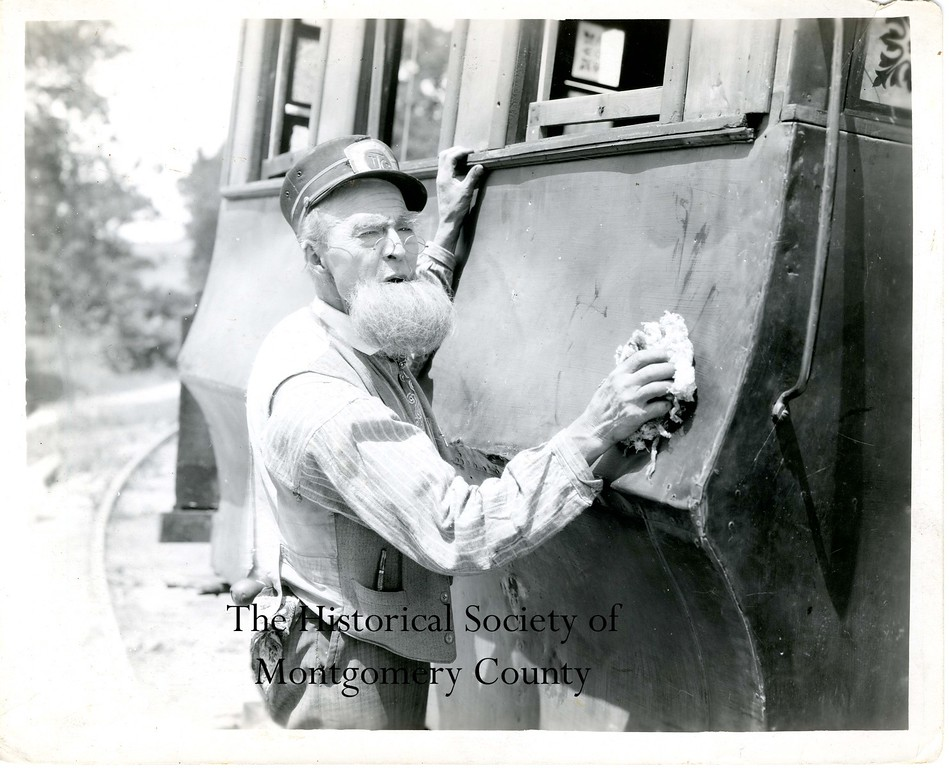 . This photo from the Historical Society of Montgomery County is a still from the Toonerville Trolley shorts that were produced by Betzwood studios. The studios were located in West Norriton Township in the early 1900s.