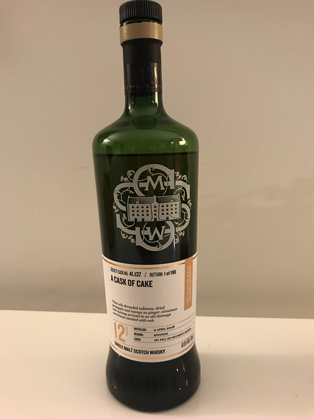 SMWS 41.137 Dailuaine is tonight's beverage of choice 12yo. 61.6 ABV safe drinking...