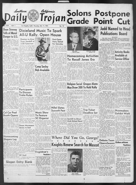 Daily Trojan, Vol. 43, No. 19, October 11, 1951