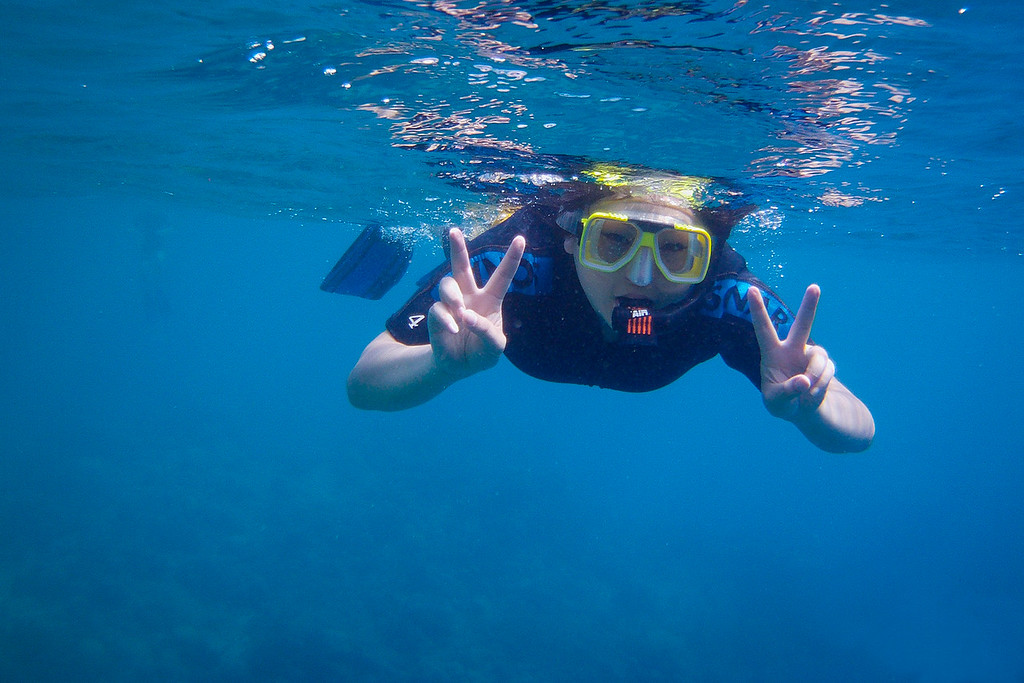 May snorkeling in the Great Barrier Reef