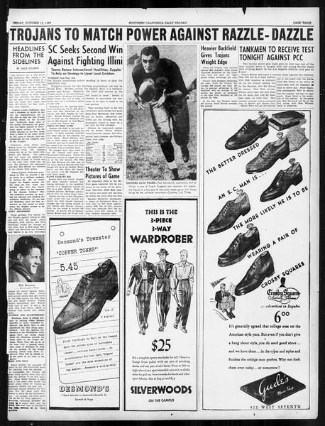 Daily Trojan, Vol. 31, No. 21, October 13, 1939