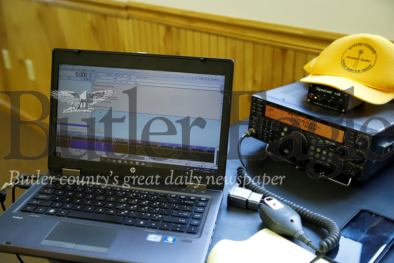 Digital ham radio station able to record and translate audible tones into text messages. Seb Foltz/Butler Eagle
