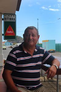 "Antonio ""Rintinha"" Domingos Avila (Lajes do Pico, Pico), born 1946, pictured outside his restaurant in Lajes do Pico. August 20, 2012."
