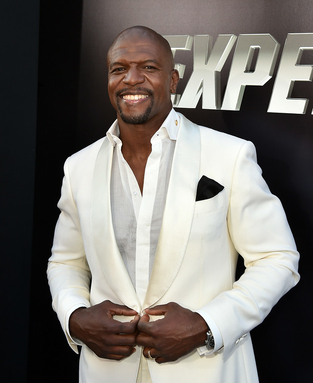 ". Actor Terry Crews attends the premiere of Lionsgate Films\' ""The Expendables 3\"" at TCL Chinese Theatre on August 11, 2014 in Hollywood, California.  (Photo by Kevin Winter/Getty Images)"