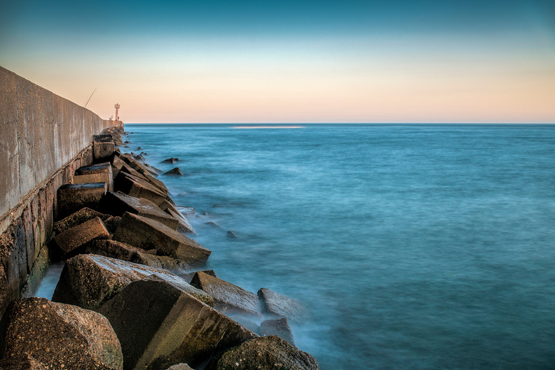 Breakwater, long exposure shot. Ayamonte, Spain.