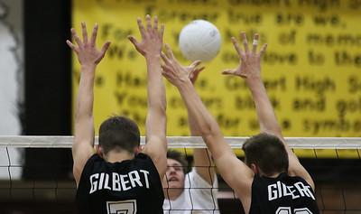 2015 Gilbert Boys Volleyball vs Higley 3-17-15