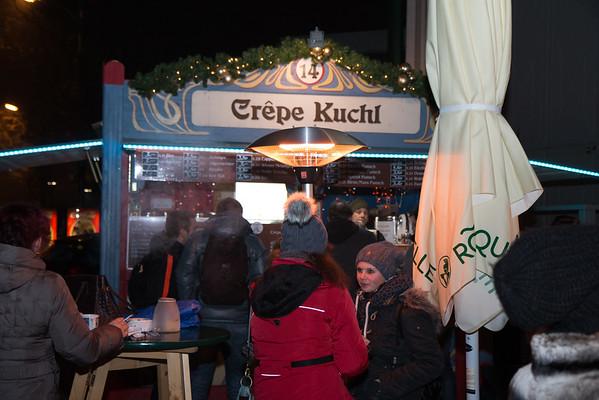Wintermarkt-Buden