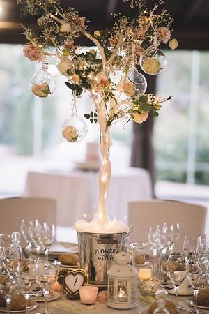 28205 Flower decoration centerpiece Platinum
