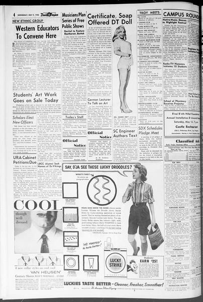 Daily Trojan, Vol. 47, No. 130, May 09, 1956