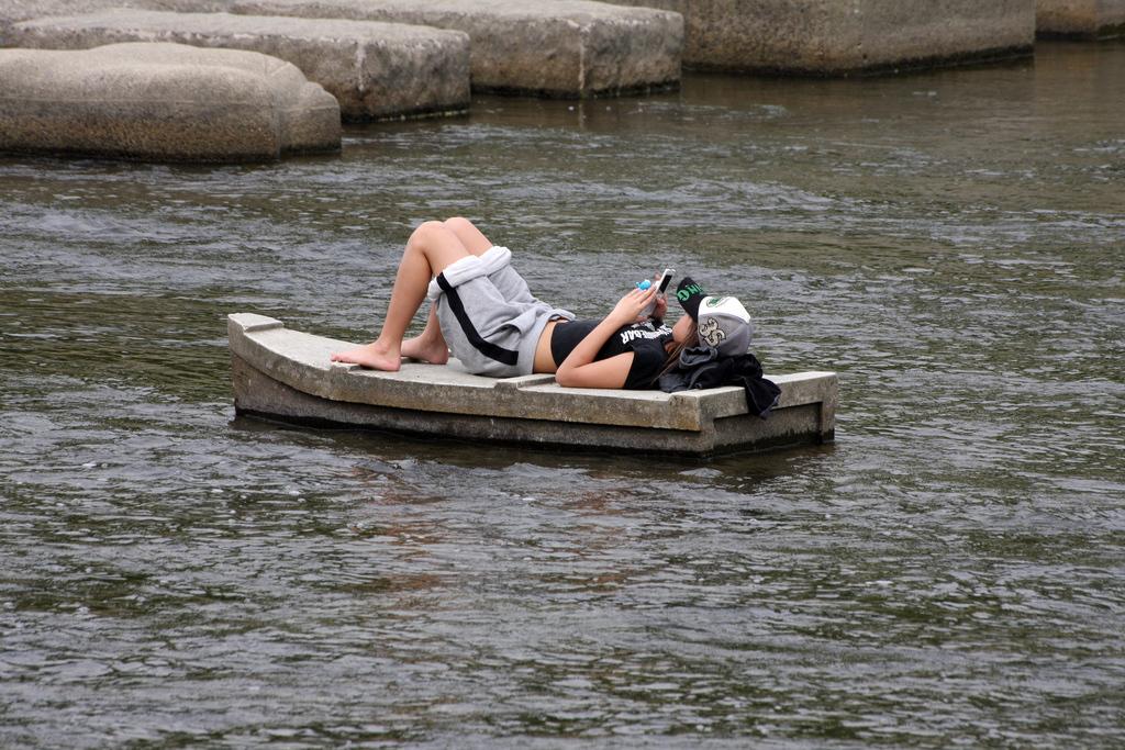 Relaxing on the Kamo