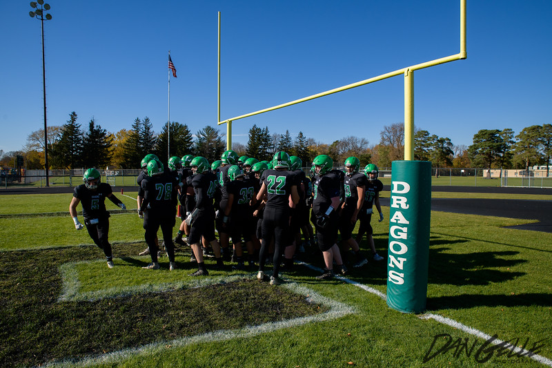Dragons Football vs  DC Chargers  Section 2AAA Playoffs