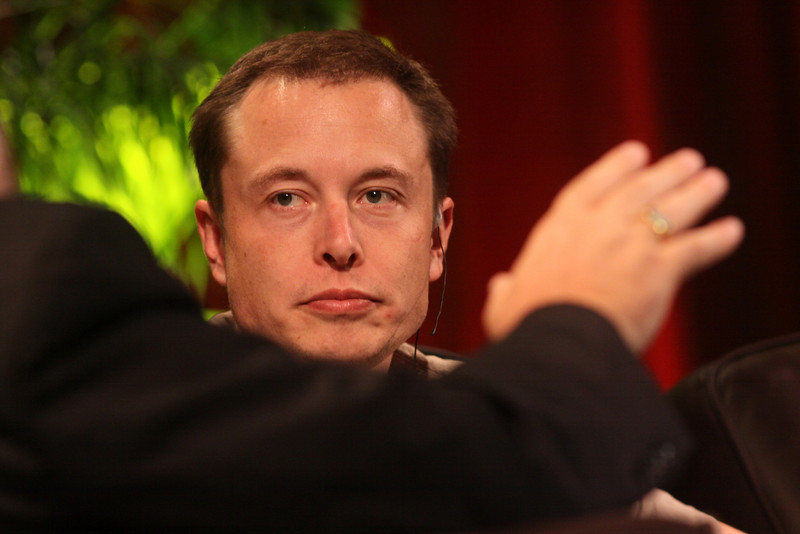 """""""Blast Off! From Launching Private Rockets to the Next Electric Cars"""": Host Mark Anderson (foreground), FiRe Chair and SNS CEO; with Elon Musk, CEO, SpaceX and Tesla Motors"""