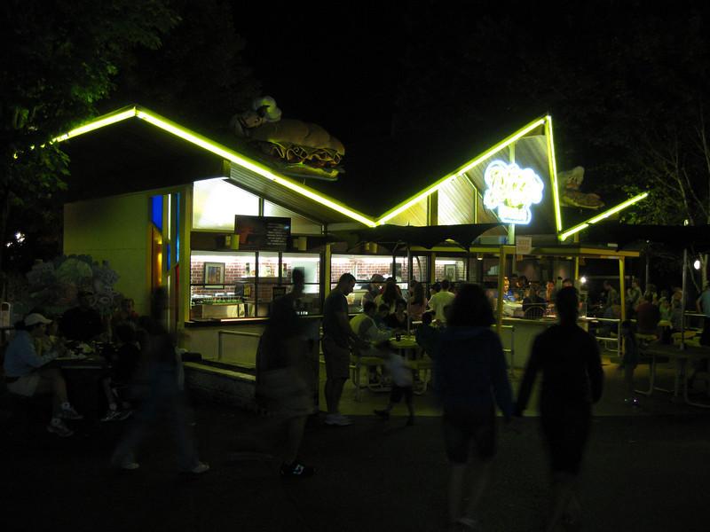 The Pizza Ria building.