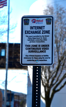2/14/2020 Mike Orazzi | Staff rBristol Police have created a safe zone for people who exchange things across from the BPD that is under continuous video surveillance.