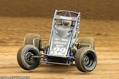 Indiana Sprint Week Lawrenceburg 7/13/14 Jeff Karabin
