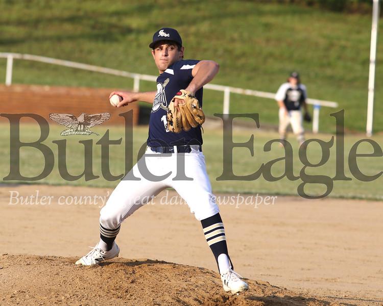 Saxonburg pitcher Guy DeLeonardis (13) vs Freeport 06/25/20 Seb Foltz/Butler Eagle