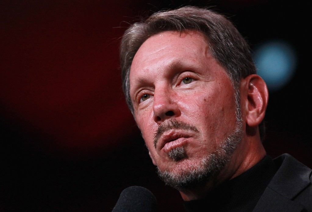 . Oracle CEO Larry Ellison pauses as he delivers a keynote address during the 2010 Oracle Open World conference on Sept. 19, 2010, in San Francisco, Calif. (Justin Sullivan/Getty Images)