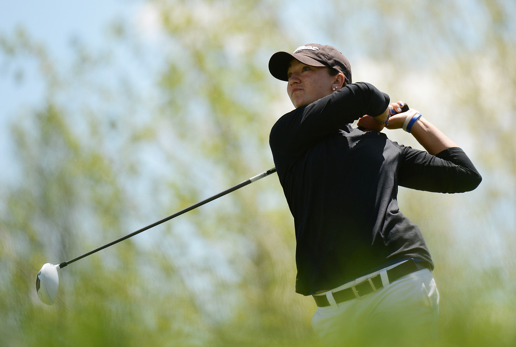 . ENGLEWOOD, CO. - MAY 21 : Taylor Dorans is in State 4A Girl\'s Golf Championship at Broken Tree Golf Course. Englewood, Colorado. May 21, 2013. (Photo By Hyoung Chang/The Denver Post)
