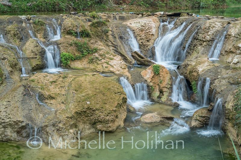 Thác Hiêu Waterfall at Pù Luông Nature Reserve, Vietnam