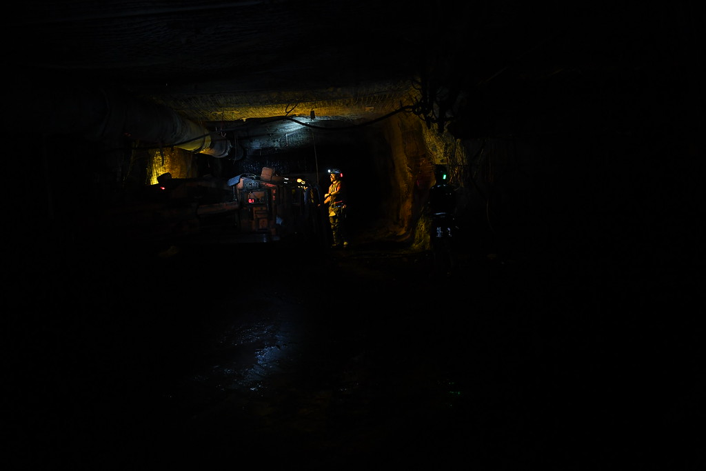 . Seven miles into the West Elk Mine, workers continue to mine for coal, April 27, 2016. The mine is the last coal mine still operating in the area. Two other mines near Somerset recently closed. (Photo by RJ Sangosti/The Denver Post)