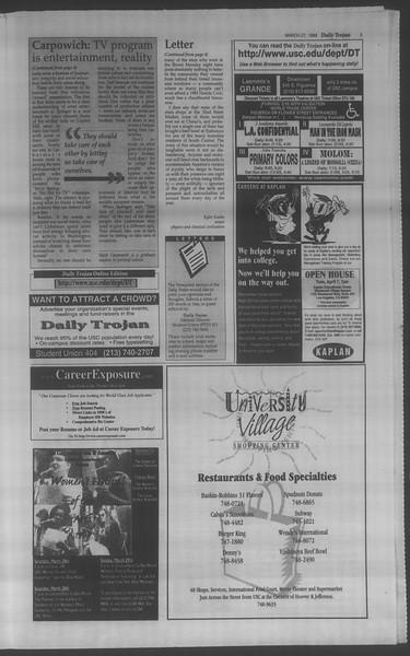Daily Trojan, Vol. 133, No. 46, March 27, 1998
