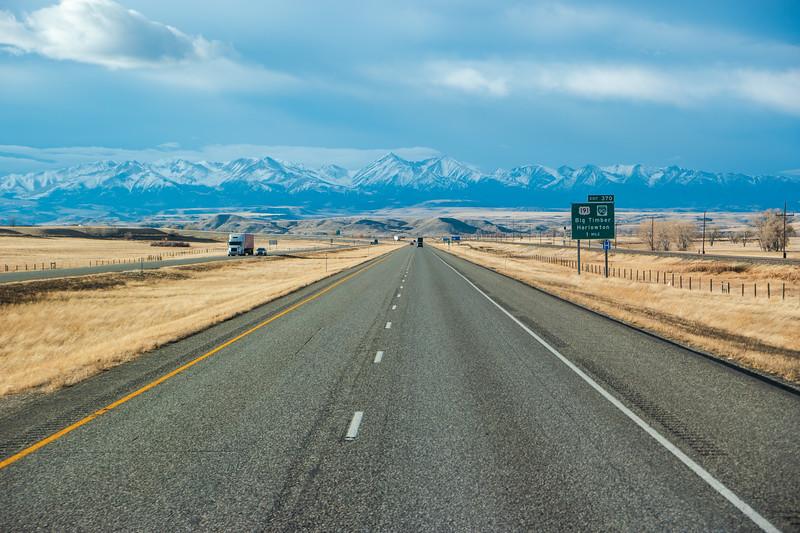 Montana Mountains Snow-Peaked