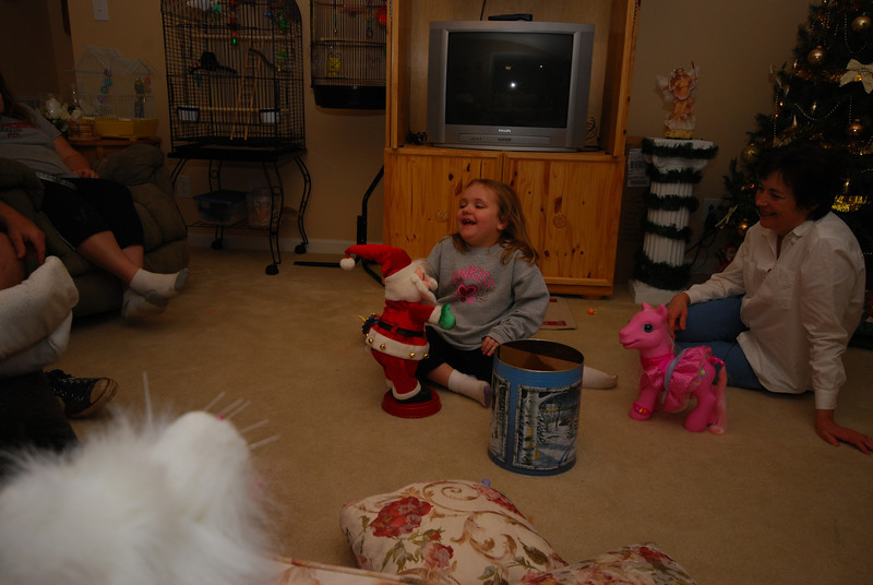 """You can't see it in this photo but Santa is moving to """"Shake your Booty."""""""
