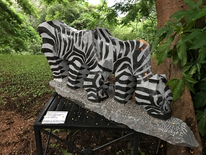 Sculptures for sale at Victoria Falls Hotel - Lisa Swenson